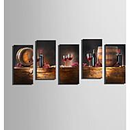 Недорогие -Холст для печати 5 панелей Холст Вертикальная С картинкой Декор стены For Украшение дома