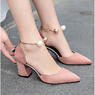 cheap Women's Shoes-Women's Heels Basic Pump Summer Real Leather PU Casual Black Beige Blushing Pink Burgundy 4in-4 3/4in