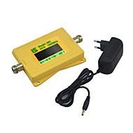 Mini intelligent display dcs 1800mhz mobiltelefon signal booster dcs980 signal repeater med 5v strømforsyning gul
