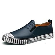 baratos Sapatos Masculinos-Homens Pele Verão / Outono Conforto Mocassins e Slip-Ons Caminhada Preto / Azul Escuro / Castanho Claro