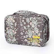 Bolsa de Viagem Organizador de Mala Bolsa para Maquiagem & Cosméticos Prova-de-Água Portátil Fofo para Roupas Náilon 29*11*18 Floral