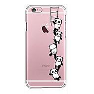 Til iPhone X iPhone 8 Etuier Transparent Mønster Bagcover Etui Tegneserie Panda Blødt TPU for Apple iPhone X iPhone 8 Plus iPhone 8