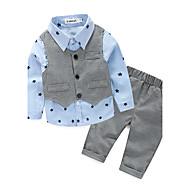 Dječaci Pamuk Poliester Galaksija Proljeće Jesen Komplet odjeće Plava Svijetlo zelena