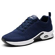 baratos Sapatos Masculinos-Homens Tricô Outono / Inverno Conforto Tênis Corrida Preto / Cinzento / Azul
