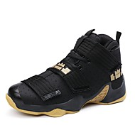 Basketball Shoes Men's Athletic Shoes Comfort Breathable Mesh Nubuck leather Polyamide fabric PU Fall Winter Athletic Outdoor  Flat Heel