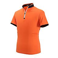 hesapli Golf Giysileri-PGM Erkek Kısa Kollu Golf Polo Gömlek Üstler Kırışıklık Karşıtı Nefes Alabilir Rahat Golf