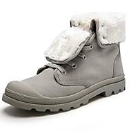 メンズ ブーツ スノーブーツ ファッションブーツ オートバイ用ブーツ フラフライニング 冬 キャンバス カジュアル パーティー 編み上げ フラットヒール ブラック グレー イエロー フラット