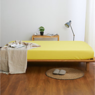 cheap Sheet Sets & Pillowcases-Fitted Sheet - Poly / Cotton Printed Solid Colored 1pc Flat Sheet 2pcs Pillowcases