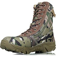 cheap Men's Boots-Men's Bootie Canvas Fall / Winter Boots Hiking Shoes Green