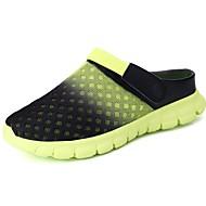 Masculino sapatos Tule Todas as Estações Conforto Chinelos e flip-flops Para Casual Preto Laranja Verde Azul Khaki