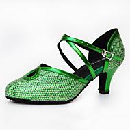 billige Moderne sko-Dame Moderne Kunstlær Sandaler Joggesko Profesjonell Stiletthæl Svart Sølv Grønn Blå Rosa Kan spesialtilpasses