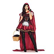 Lille Rødhætte Cosplay Kostumer Maskerade Dame Halloween Karneval Festival / Højtider Halloween Kostumer Udklædning Rød Anden Vintage