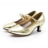 billige Moderne sko-Dame Moderne Syntetisk Mikrofiber PU Sandaler Utendørs Lav hæl Gull Sølv