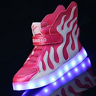 Kids Girl's Boys' Sneakers Spring Summer Fall Winter Light Up Shoes Luminous Shoe Leather Outdoor Athletic Casual Low Heel Magic Tape LED Walking
