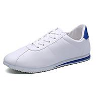 Férfi Sportcipők Kényelmes Gumi Tavasz Ősz Fűző Lapos Fekete/fehér Piros/Fehér Fehér/Kék 1 inch alatt