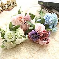 1 Stykke 1 Afdeling Silke Polyester Roser Bordblomst Kunstige blomster