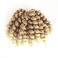 kudrnaté copánky Kudrny skákací Curl Háčkované braids s lidskými vlasy 100% kanekalon vlasy 100% kanekalon vlasy Strawberry Blonde /