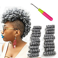 "halpa -Afro Kinky punokset Hiusletit Kihara Bouncy Curl Letit 10"" Black / Mansikka Blonde Black / Medium Auburn Musta / Burgundy Musta / Harmaa"