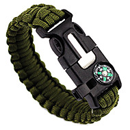 cheap Camping Tools, Carabiners & Ropes-Survival Bracelet Fire Starter Compasses Paracord Whistle Hiking Camping Travel Outdoor Multi Function 5 in 1 Nylon pcs