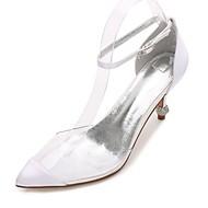 abordables Talons pour Femme-Femme Chaussures de mariage Confort D'Orsay & Deux Pièces Escarpin Basique chaussures Transparent Satin Printemps EtéMariage Habillé