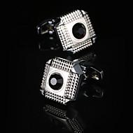 Cufflink Tie Bar קליפ העניבה אופנתי קופסאות מתנה & Bags חפתים בגדי ריקוד גברים זכר כסף