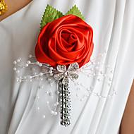 "Wedding Flowers Boutonnieres Wedding Organza Satin 1.97""(Approx.5cm)"