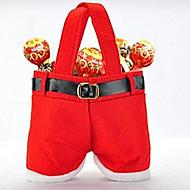 1 stk jul candy taske rød santa claus bukser juletræ dekorationer smykker gave taske