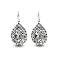 Dame Luksus Bladformet / Dråbe Syntetisk Diamant Simuleret diamant Dråbeøreringe - Personaliseret / Luksus / Klassisk Hvid Uregelmæssig