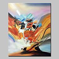 billiga Abstrakta målningar-Hang målad oljemålning HANDMÅLAD - Abstrakt Abstrakt / Moderna Utan innerram / Valsad duk