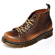 Herre Fashion Boots Syntetisk læder Forår Komfort Støvler Sort / Grå / Brun