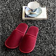 Einmalige Hausschuhe dicker Sohlen Tuch Hause Innenboden dicken weichen Boden