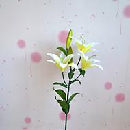 1 Gren Plastikk Liljer Planter Bordblomst Kunstige blomster