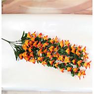 1 Peça 1 Ramo Poliéster Lírios Guirlandas & Flor de Parede Flores artificiais