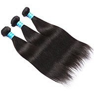 Emberi haj Brazil haj Az emberi haj sző Egyenes Póthajak 3 darab Fekete