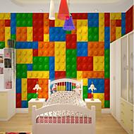billige Tapet-Art Deco 3D Regnbue Hjem Dekor Søtt Moderne Tapetsering, Lerret Materiale selvklebende nødvendig Veggmaleri, Tapet