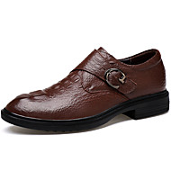 Miehet kengät Aitoa nahkaa Nappanahka Nahka Kevät Syksy Comfort Valopohjat muodollinen Kengät Sukelluskengät Oxford-kengät Solmittavat