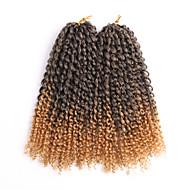 Curly Vlechten Gehaakte haarvlechten Gekruld 100% Kanekalon HaarZwart Donker Kastanjebruin Zwart / Strawberry Blonde Zwart / Medium