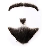 Neitsi fake parta mies viikset 100% ihmisen hiukset käsintehty muoti tarvikkeet meikki naamioida rekvisiitta