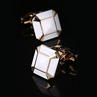 billige Tilbehør til herrer-Geometrisk Form / Square Cut Gylden Mansjettknapper Gaveesker og poser / Mote Herre Kostyme smykker Til