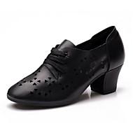 cheap Latin Shoes-Women's Latin Nappa Leather Leather Sandal Sneaker Professional Low Heel Black Customizable