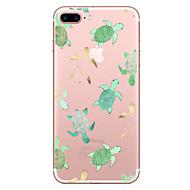 billiga Mobil cases & Skärmskydd-fodral Till Apple iPhone X iPhone 8 Genomskinlig Mönster Skal Djur Mjukt TPU för iPhone X iPhone 8 Plus iPhone 8 iPhone 7 Plus iPhone 7