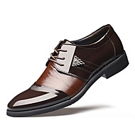 Masculino sapatos TPU Outono Inverno Sapatos formais Oxfords Para Casamento Social Preto Marron