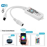 cheap Lamp Bases & Connectors-WiFi Wireless LED Smart Controller Working with Android and IOS System Mobile Phone Free App for RGB LED Strips Comes With One 24 Keys Remote Control