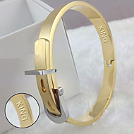 Gold Titanium jewelry adjustable size belt buckle bracelet Korea fashion accessories
