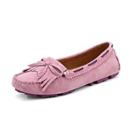 Women's Boat Shoes Comfort Light Up Shoes Spring Summer Fall Synthetic Walking Shoes Casual Split Joint Flat Heel Yellow Blue Blushing