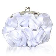 baratos Clutches & Bolsas de Noite-Mulheres Bolsas Seda Bolsa de Festa Floral / Corrente Branco / Branco Leite / Sacolas de casamento / Sacolas de casamento