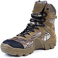 baratos Sapatos Masculinos-Homens Curta/Ankle Camurça / Lona Outono / Inverno Botas Aventura Verde Tropa