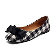 Women's Flats Light Soles PU Summer Casual Bowknot Flat Heel Ruby Black Flat