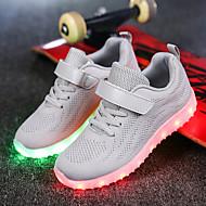 baratos Sapatos de Menino-Para Meninos sapatos Tricô Verão Outono Tênis com LED Tênis LED Colchete para Casual Ao ar livre Festas & Noite Preto Cinzento Azul Rosa