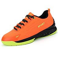 Masculino sapatos Malha Respirável Couro Ecológico Primavera Outono Conforto Solados com Luzes Tênis Cadarço Para Atlético Casual Preto